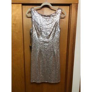 Lulu's Mini Gold Dress